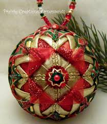 and gold folded ribbon quilted ornament ribbon