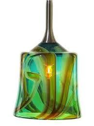 Green Pendant Lights Argentum Storm Blue Glass Pendant Light From Artisancraftedhome