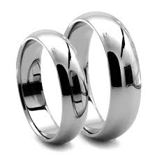 matching wedding bands his and hers classico his hers tungsten dome rings j r yates wedding bands