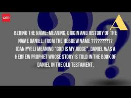 where does the name daniel come from