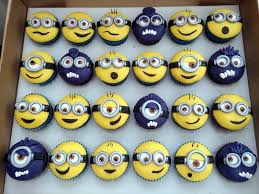 minion cupcake cake 12 minion toppers by caketoppersbyjulie on etsy 16 00 cupcake