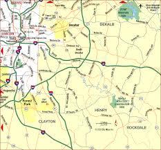 road map of southeast us road map of atlanta metro southeast atlanta