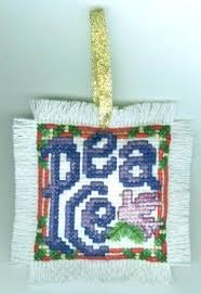 peace christmas ornament cross stitch pattern