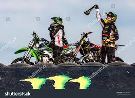 freestyle motocross riders czech republic plzen motoshow fmx freestyle stock photo 101764741
