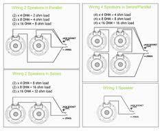 series u0026 parallel wiring 4 speakers circuits pinterest