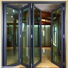 Aluminium Folding Patio Doors Aluminum Glass Folding Door Balcony Folding Door Folding Patio