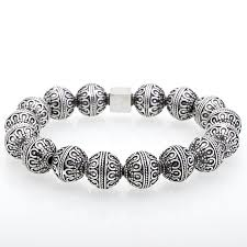 silver bead bracelet diy images Mcllroy silver bracelet men fashion thai silver button silver jpg