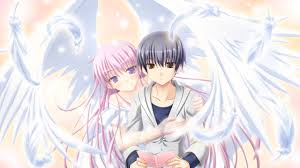 anime angel and boy walldevil
