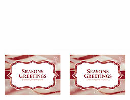 christmas cards candy cane swirls design 2 per page office