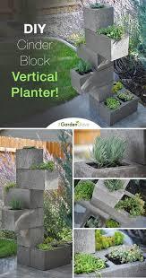 diy cinder block vertical planter the garden glove