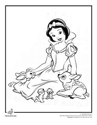 snow white coloring pages kids printable free snow