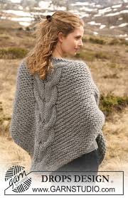 drops design poncho drops 116 14 free knitting patterns by drops design