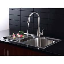 dual mount kitchen sink afa stainless double bowl 33 dual mount kitchen sink faucet combo