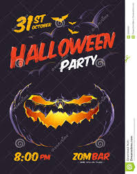 halloween party poster stock vector image 58050965