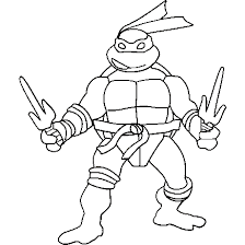 purple ninja turtle coloring