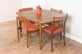 vintage retro g plan teak oval dining table and 4 mixed g plan
