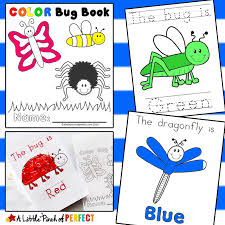 color bug free printable emergent reader book