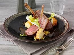 騅ier d angle cuisine chef eric snaith s rack of with cauliflower pesto is a fresh