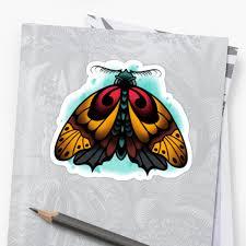 neo traditional moth tattoo design