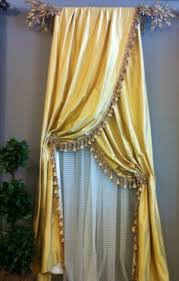 Curtains Seattle Pearl Dahlia Valance Curtains With Swags And Tails Traditional