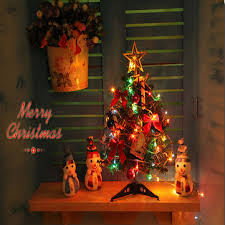 mini christmas tree with lights 40cm luxury mini christmas tree with lights desktop decoration at