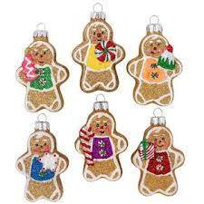 celebrations by radko mini gingerbread glass ornaments