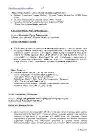 cv sle piping designer resume piping designer sle cv 6 piping