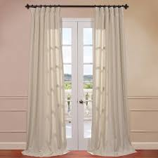 Cotton Drapes Interior Endearing Linen Drapes With Curtain Rod For Window