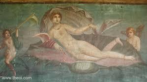 birth of aphrodite venus greco roman fresco from pompeii c1st a d naples