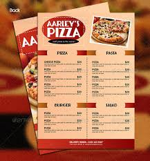 simple menu template free pizza menu templates 31 free psd eps documents