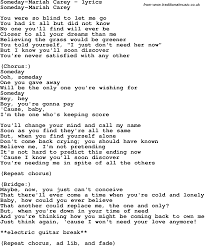 Blind To You Lyrics Love Song Lyrics For Someday Mariah Carey