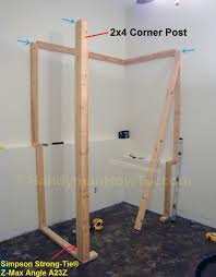 Basement Framing Ideas Basement Closet 2x4 Framing Corner Post Home Pinterest
