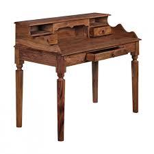 Schreibtisch Halbrund Finebuy Schreibtisch Massivholz Sekretär 115 X 100 X 60 Cm Mit 3