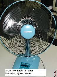 servicing table fan