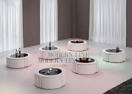 Glass Round Coffee Table by Modern Line Furniture Commercial Furniture Custom Made