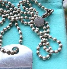 ball bead necklace images Tiffany co silver 1837 dog tag on 34 quot ball bead chain necklace jpg
