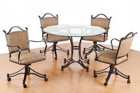 Dining Table And Chairs On Wheels Stunning Dining Room Chairs On Wheels Images Rugoingmyway Us