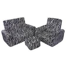 toddler sofa chair and ottoman set in zebra rosenberryrooms com