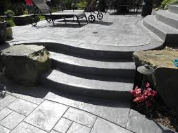 stamped concrete patio and steps issaquah wa sublime garden