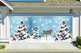 amazon com merry christmas garage door cover full color christmas