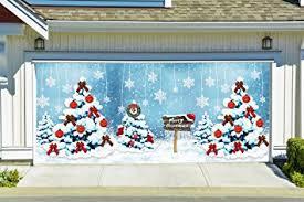 amazon com merry christmas garage door cover full color christmas