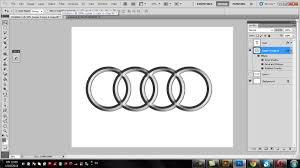 audi logo in photoshop photoshop tutorial logo design graphic