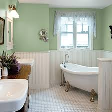 Purple And Cream Bathroom After 23 Moves A Couple Finds Their Forever Home White Tiles