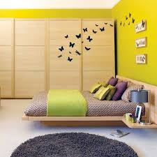 select bedroom wall color and make a modern feel interior design