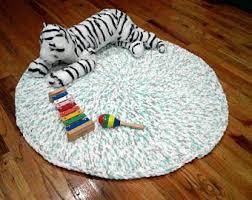 crochet round rug etsy