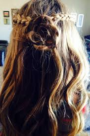 diy half up rose hair make 2 braids in the front of your head