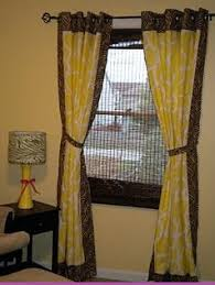 Yellow Brown Curtains Bedroom Decorating Ideas Bedroom Pinterest Bedrooms