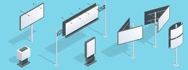 imagenes libres para publicidad cartelera isométrica perspectivas distintas que hacen publicidad de