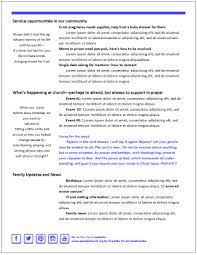 free thanksgiving newsletter templates 2 page senior print newsletter template effective church