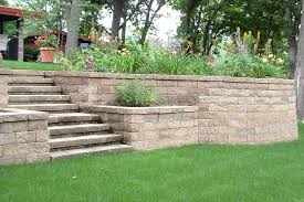 white retaining wall blocks stupefy walls cinder block with green